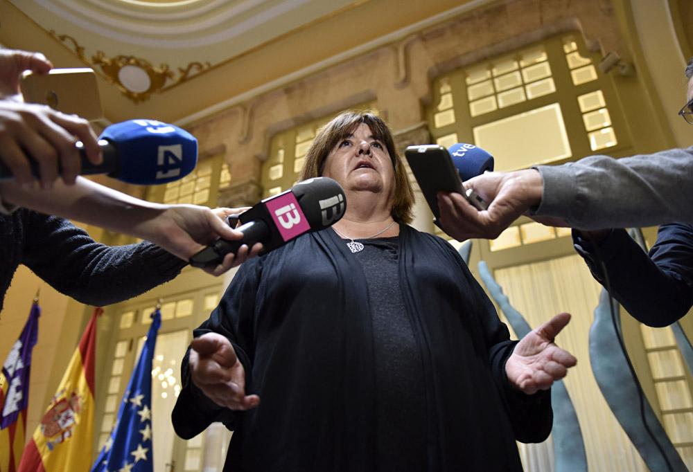 Fotografía de archivo de la presidenta del Parlament balear, Xelo Huertas a quien la Comisión de Garantías de Podemos en Baleares ha expulsado de su partido. EFE/ARCHIVO/Atienza