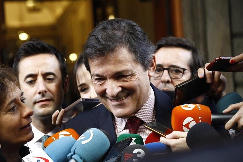 El presidente asturiano y de la Comisión Gestora del PSOE, Javier Fernández. E.P.