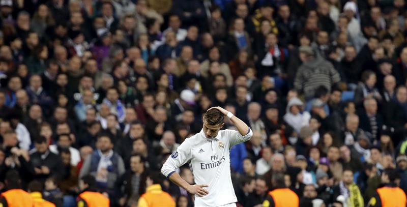 Cristiano Ronaldo, durante el partido contra el Borussia. EFE/JuanJo Martín