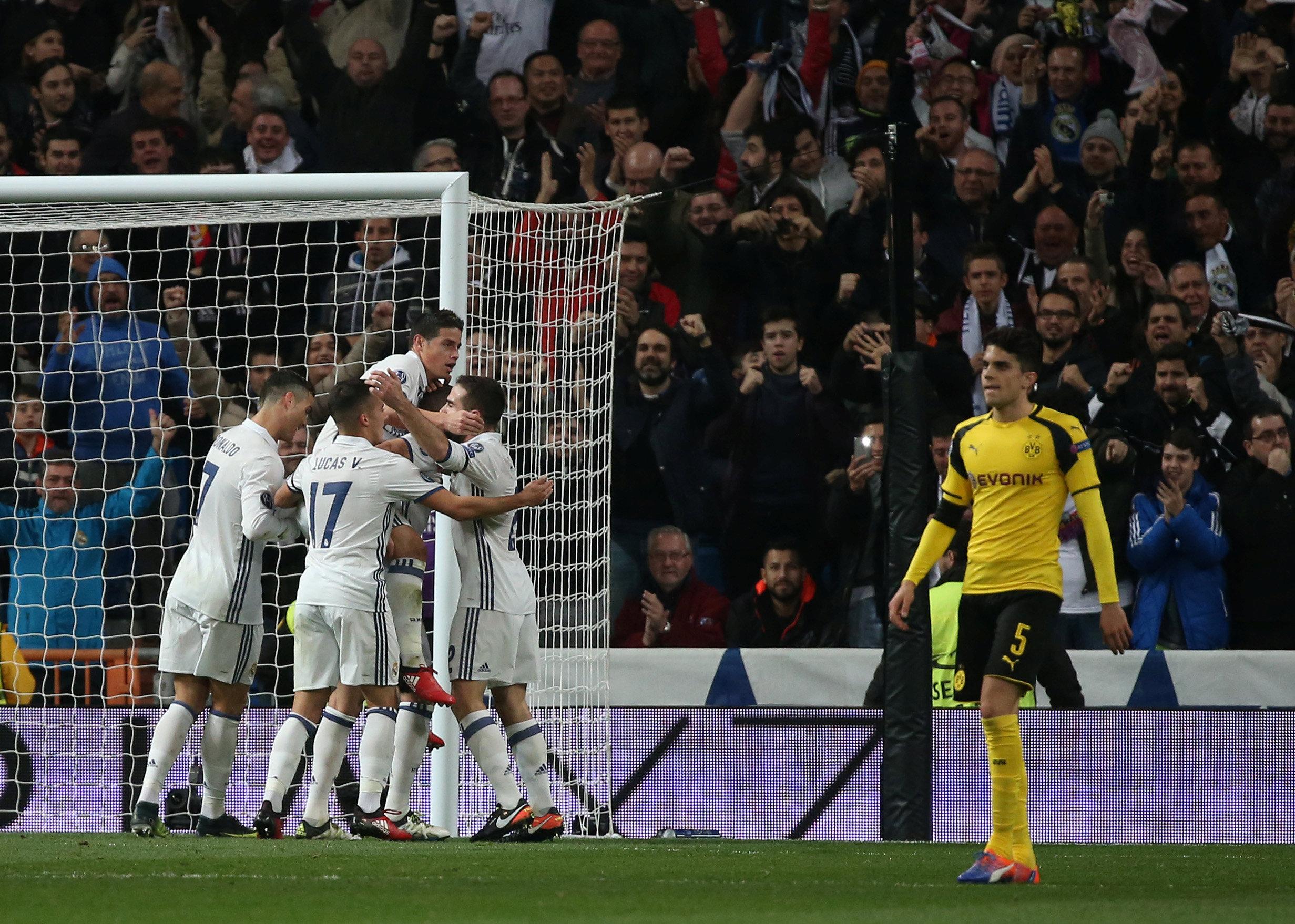 89353a1115841 Los jugadores del Real Madrid celebrando un gol el pasado miércoles ante el  Dortmund en la Champions.  REUTERS