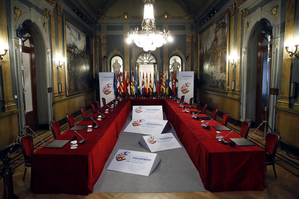 Salón del Senado sonde se celebrará la Conferencia de Presidentes. EFE/Juan Carlos Hidalgo