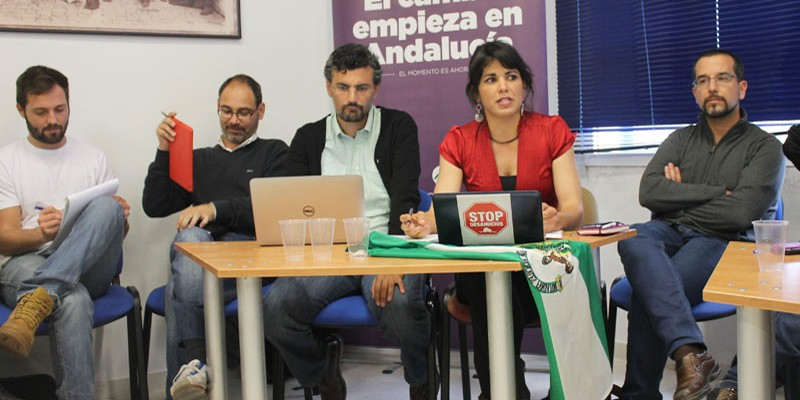 Imagen de la primera reunión del consejo ciudadano de Podemos Andalucía.