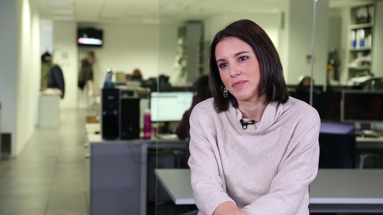 Irene Montero, durante una entrevista con Público el 21 de enero de 2017.