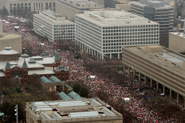 La 'Marcha de las mujeres' en Washington. - REUTERS