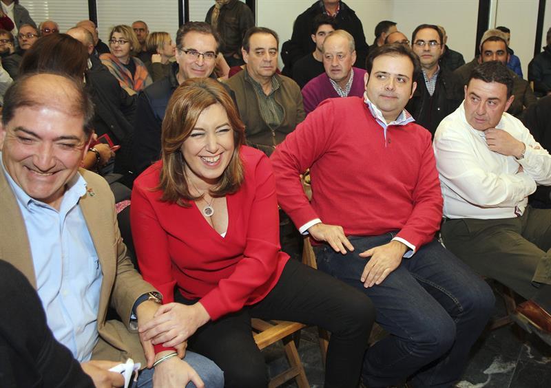 Susana Díaz durante un momento del mitin. - EFE