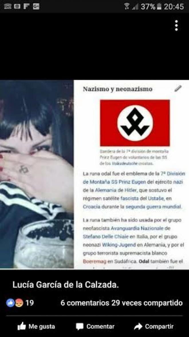 El amplio historial de \'La Intocable\', la neonazi agredida en Murcia ...