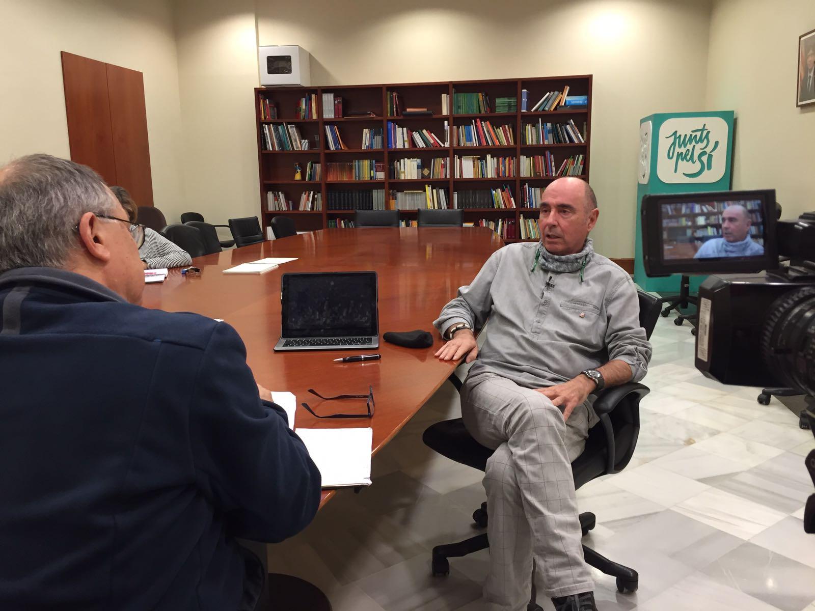 Entrevista amb Lluís Llach al Parlament