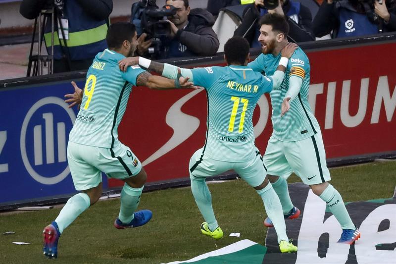 El Barça tira de instinto para vencer a un Atlético de Madrid que mereció más
