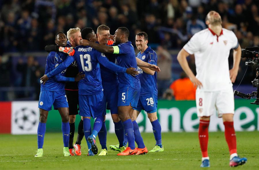 Un Sevilla irreconocible se estrella en Leicester y dice adiós a la Champions