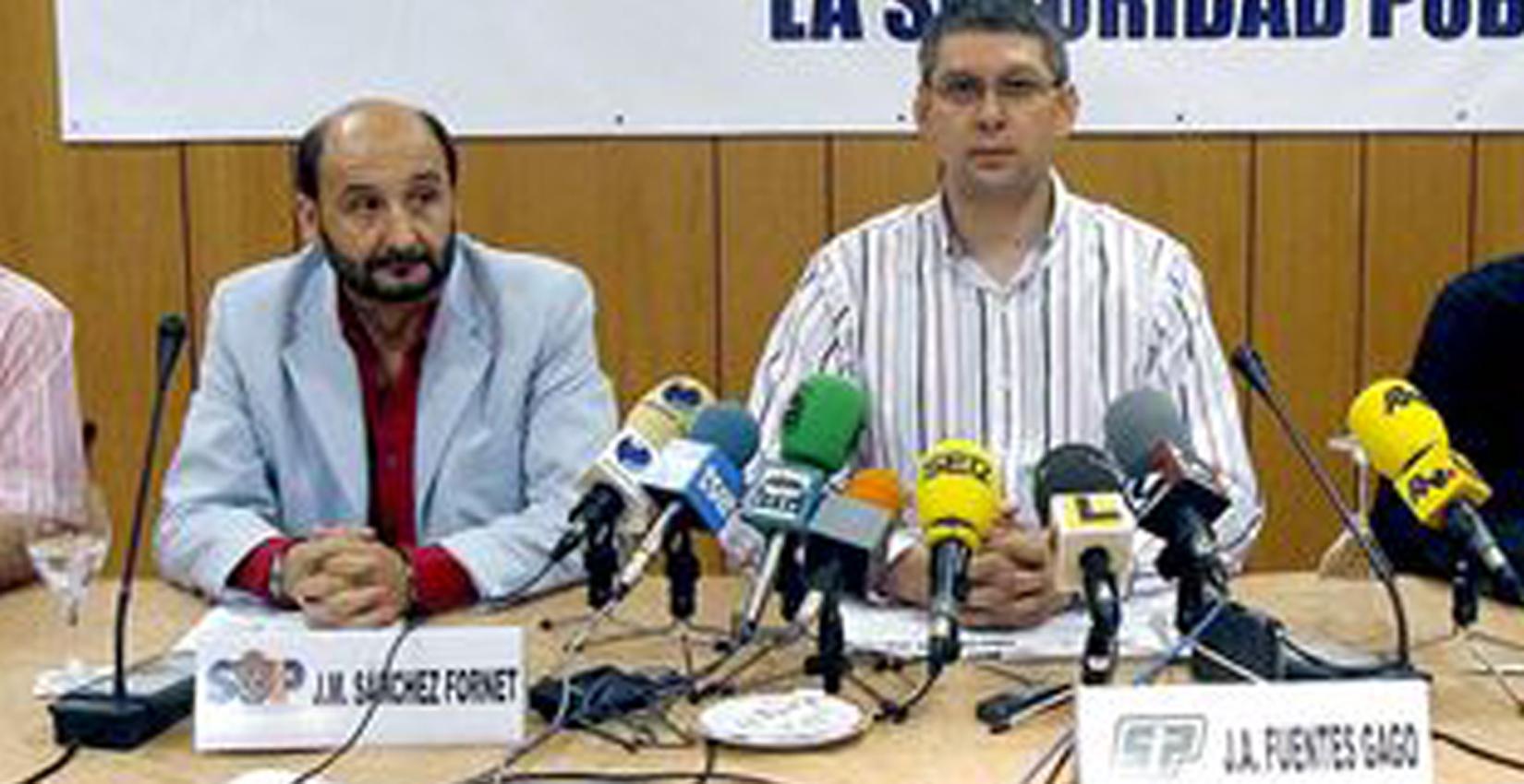 José Ángel Fuentes Gago con Sánchez Fornet.
