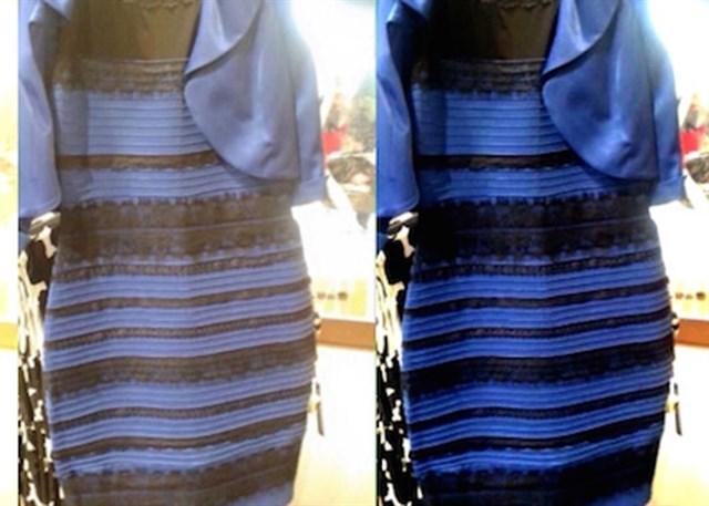 Vestido azul con negro