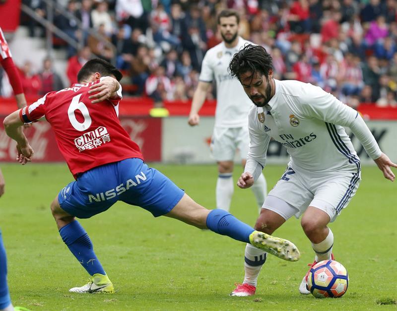 Isco salva los tres puntos contra el Sporting