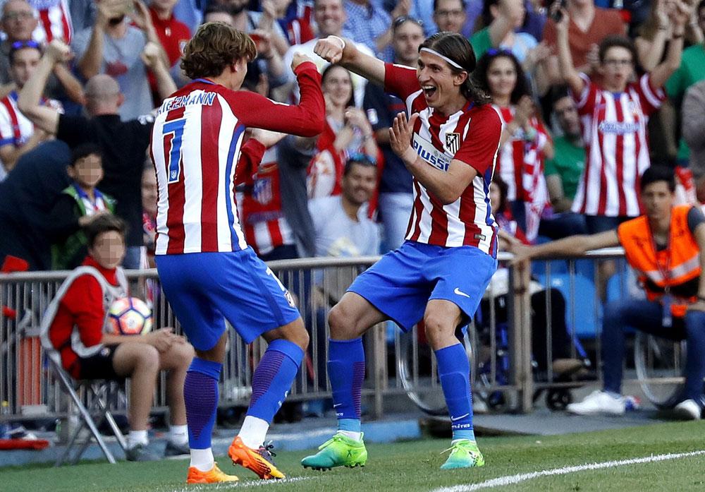 El Atlético gana 3-0 al Osasuna y se hace fuerte en el tercer puesto