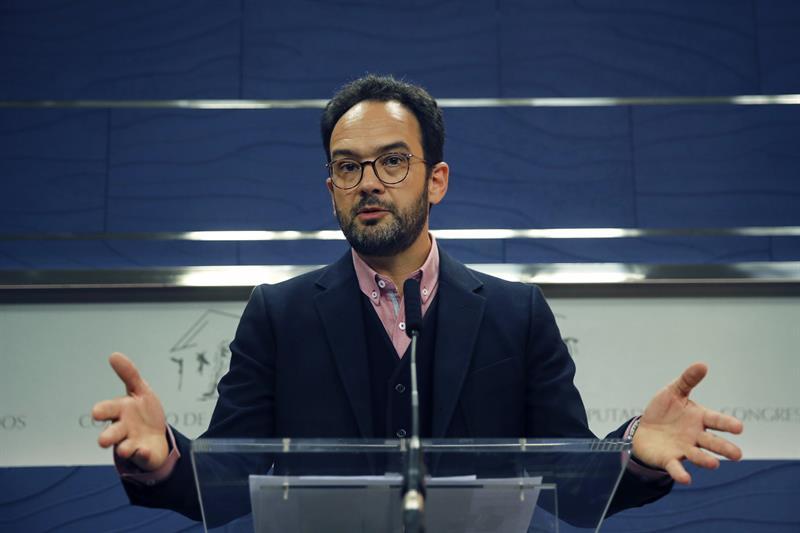 El portavoz del PSOE en el Congreso, Antonio Hernando.- EFE