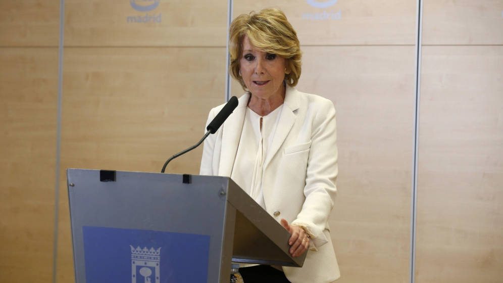 Esperanza Aguirre dimite como concejal y portavoz del Ayuntamiento de Madrid tras estallar la operación Lezo. EFE