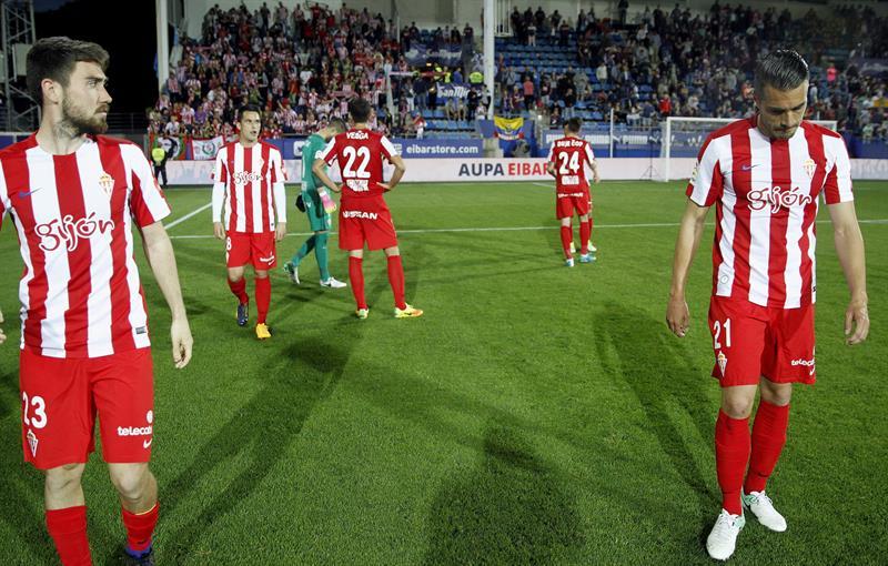 El Sporting baja a Segunda merced a los empates de Deportivo y Leganés