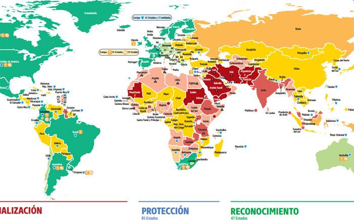 Mapa De Los Paises.Homofobia Todavia Hay 72 Paises Que Persiguen A Los