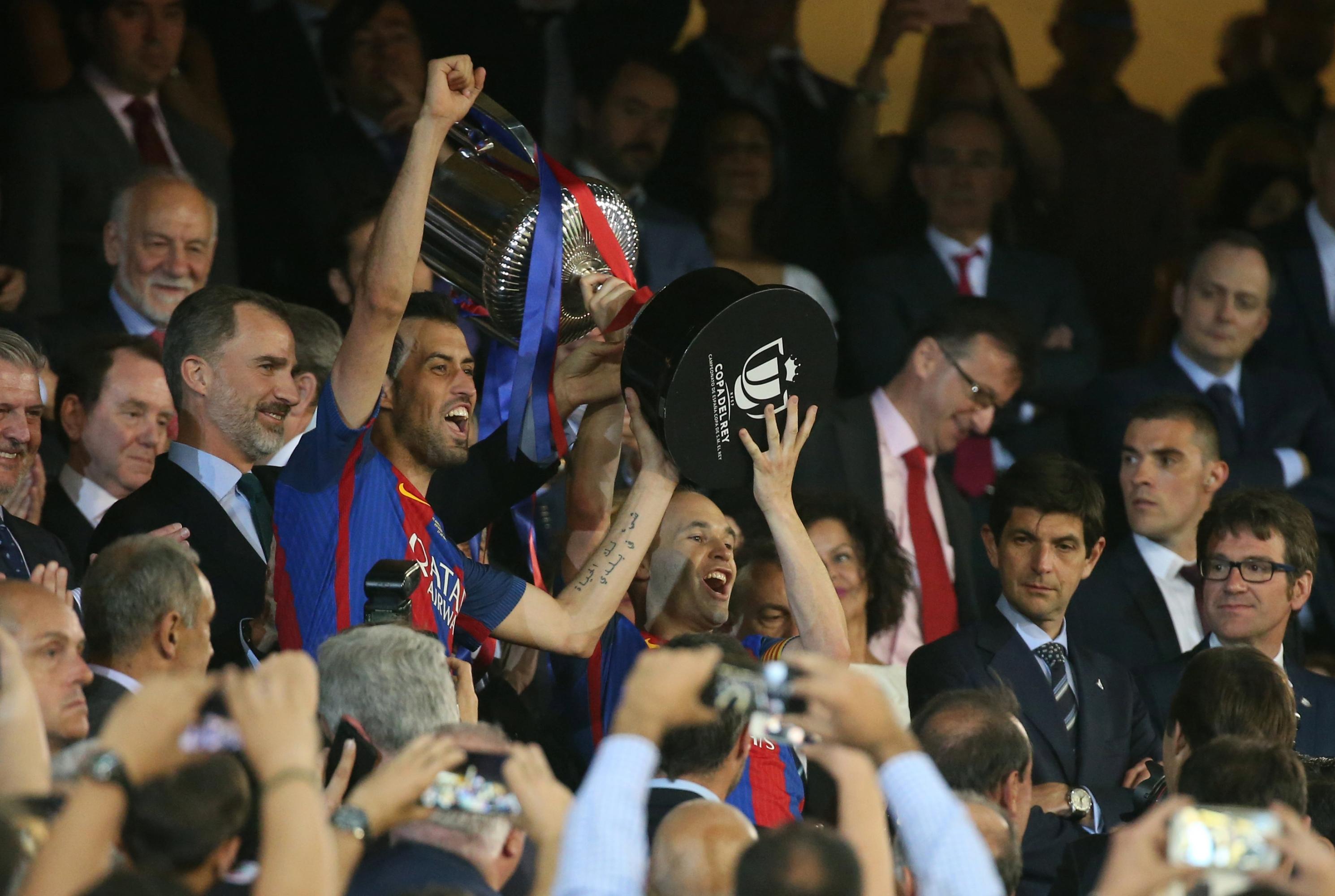 El Barcelona se lleva su tercera Copa del Rey consecutiva