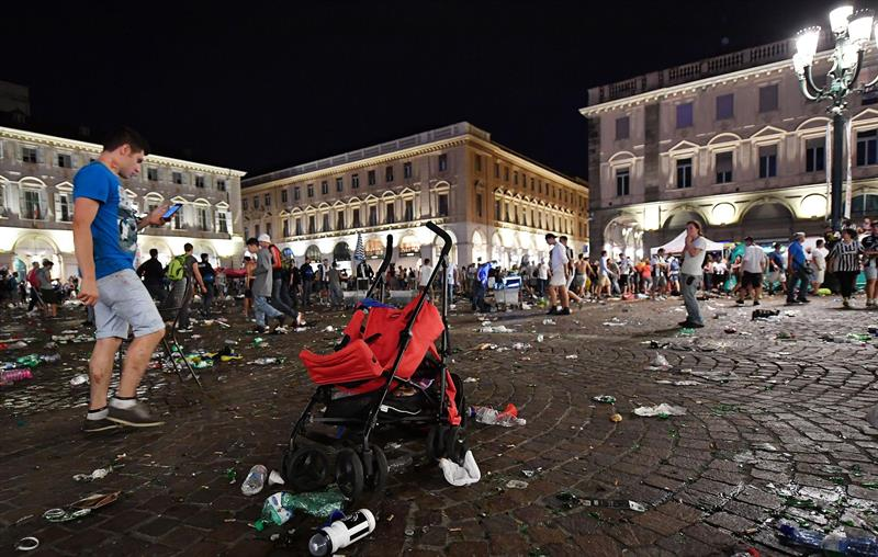 Treinta heridos en una estampida cuando veían la final de Liga de Campeones en Turín