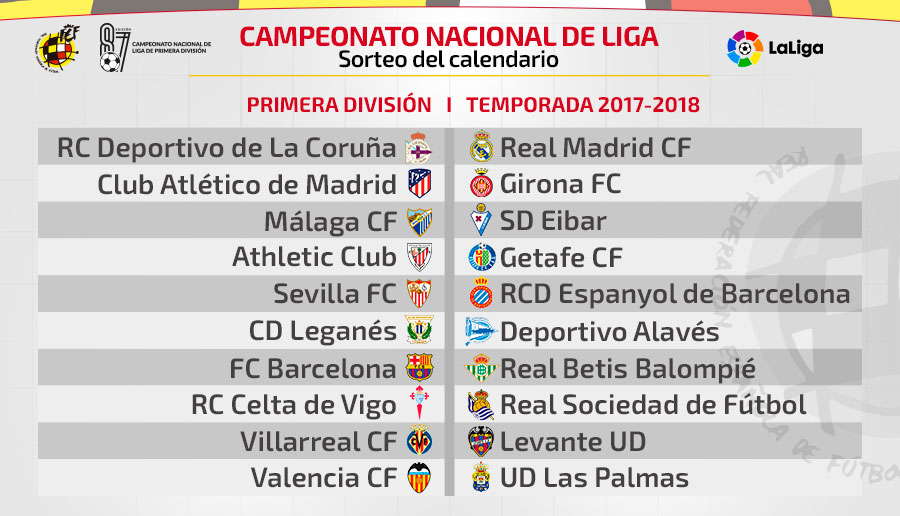 Calendario Real Madrid Liga.Temporada 2017 18 La Liga Comenzara Con Un Deportivo Real Madrid Y
