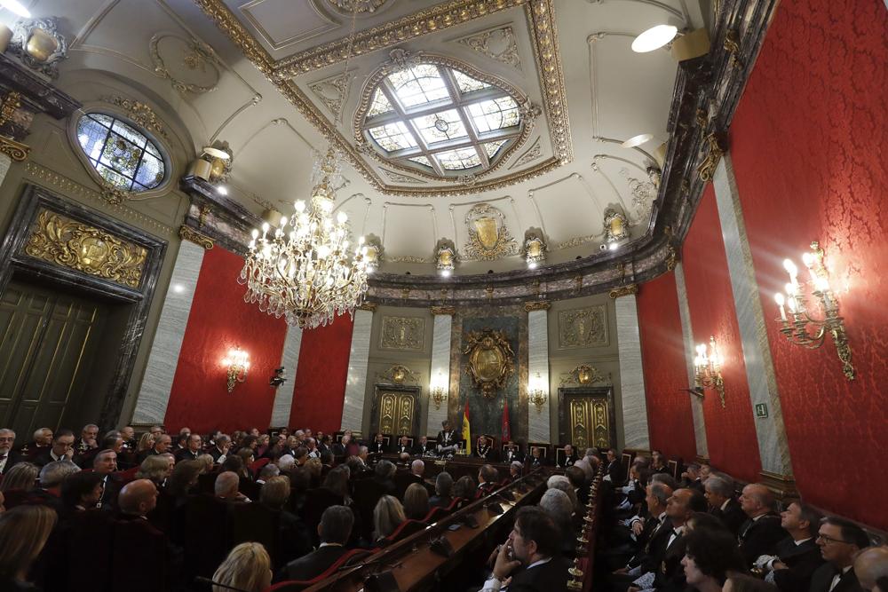 El rey inaugura el a o judicial sin presencia de mujeres for Sala 4 tribunal supremo