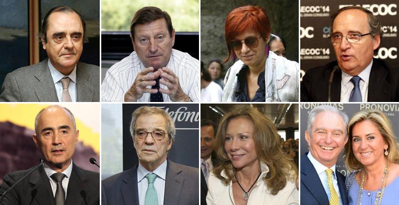 Resultado de imagen de Las ocho mayores fortunas españolas atesoran más de 5.000 millones en sus sicav