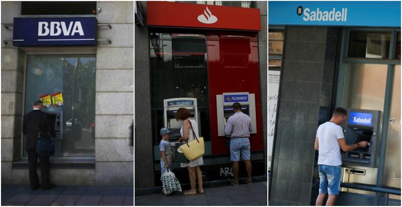 Bbva sabadell y santander pierden millones en for Santander cajeros madrid