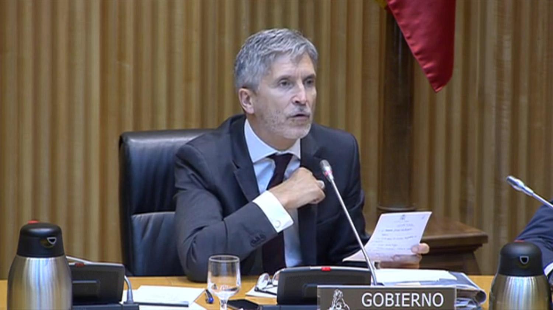 Resultado de imagen de Comparecencia de Grande Marlaska en la Comisión de Interior del Congreso de los Diputados.