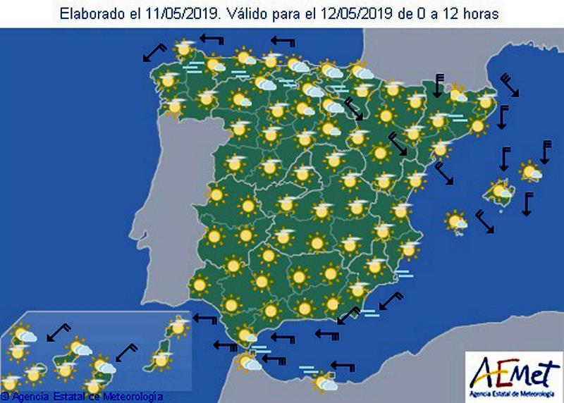 Previsión Metereológica: Tiempo Seco Mañana Y Temperaturas