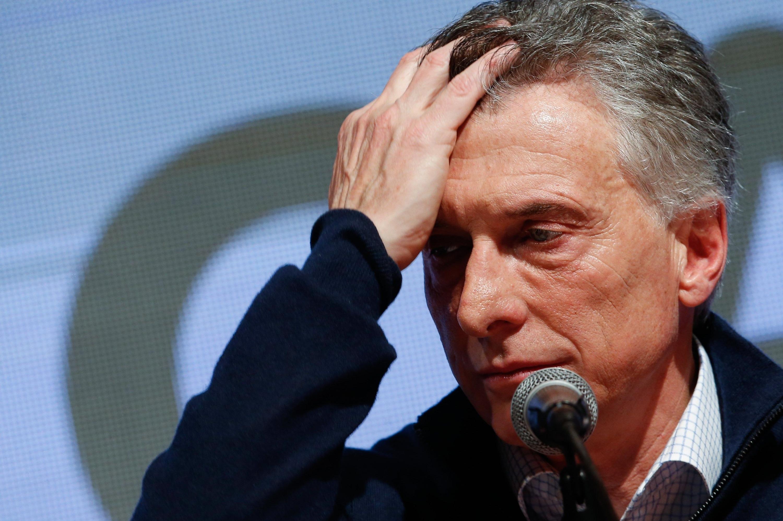 Resultado de imagen de Mauricio Macri derrotado imágenes