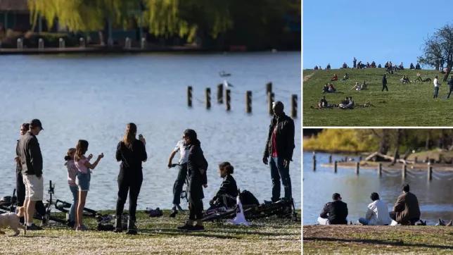 El Gobierno británico amenaza con endurecer el confinamiento después de un fin de semana de parques repletos de gente