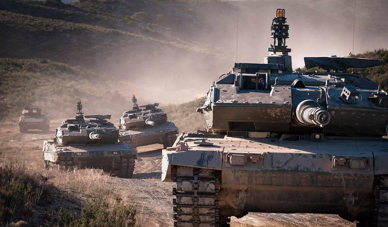 Imagen de archivo de tanques Leopard del Ejército español. EJÉRCITO DE TIERRA
