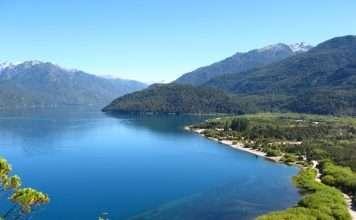 El Lago Puelo, en Chubut.
