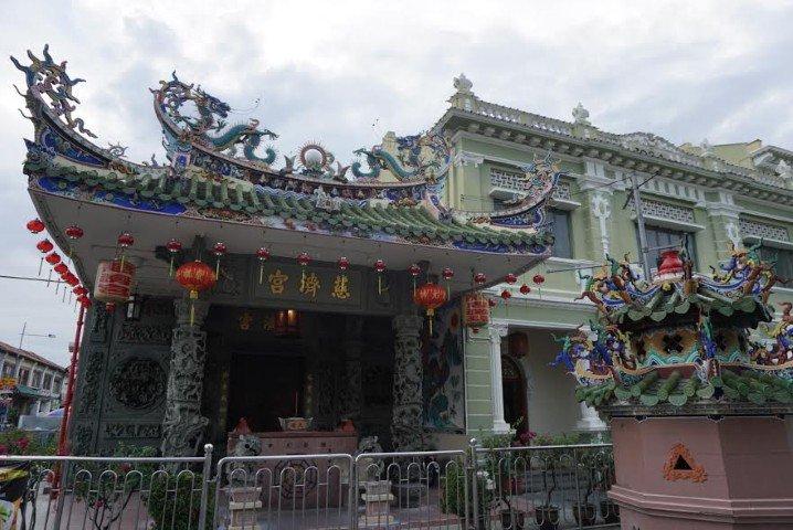 Fotografía mía de un templo chino en la Armenian Street de George Town, Penang.
