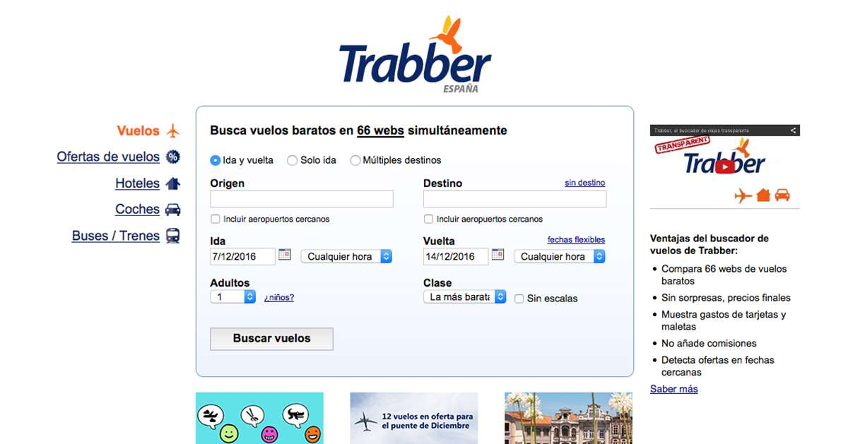 página oficial de Trabber