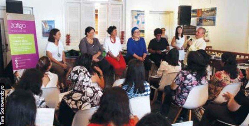 """Mesa Redonda """"Zafigo"""" en el Festival de George Town el pasado verano. Fuente: http://penangmonthly.com/the-ten-best-quotes-from-intrepid-women-travellers/"""