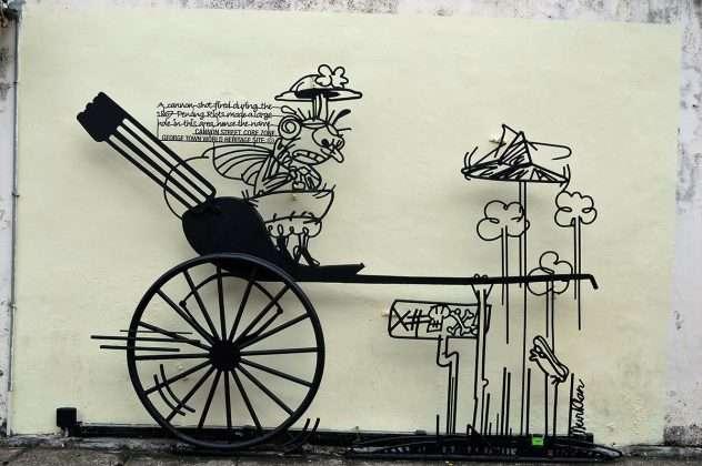Obra del caricaturista malayo Tang Mun Kian