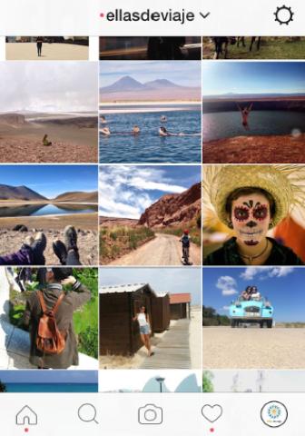 Proyecto en instagram de @ellasdeviaje