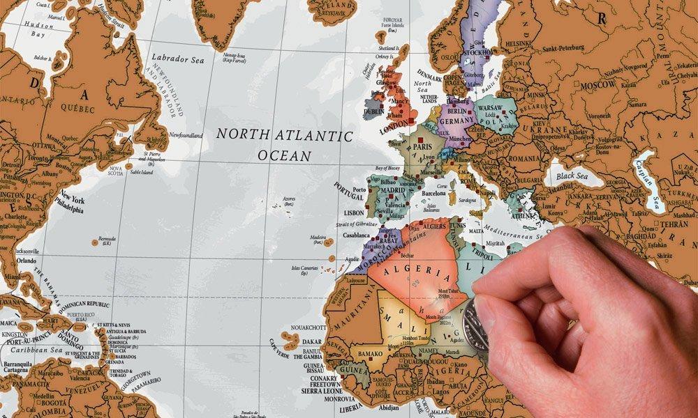Mapa para Rascar | Tourse Viajes - Público.es
