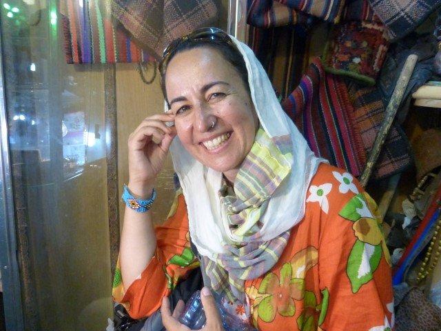 Sabela en el bazar de Tabriz, Irán