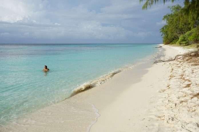 La idílica (y desierta) playa de la isla de jaco