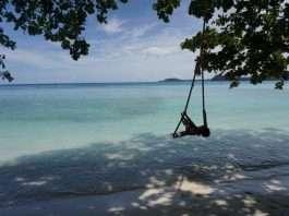 Columpiándome en Gapang Beach, Pulau Weh