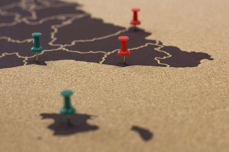 Mapas para rascar y otros regalos para recordar tus viajes tourse viajes p - Mapa de corcho ...
