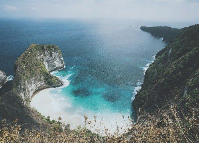 Lombok desde el aire