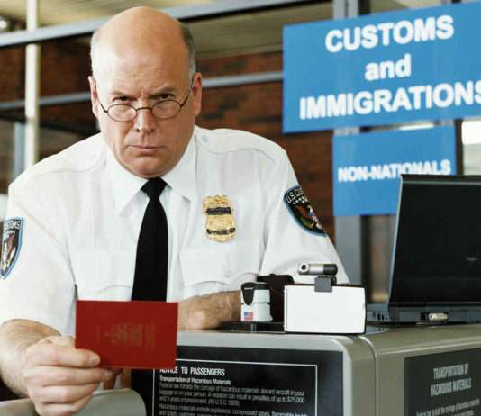 Passport Officer at Airport Security